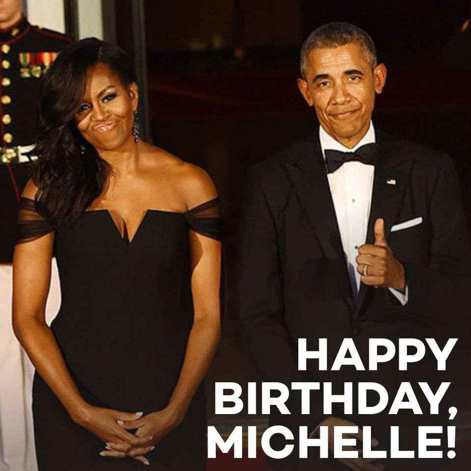 Michelle Obama's Birthday Wishes Images download