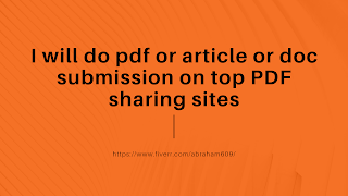 PDF or article or doc submission on top PDF sharing sites