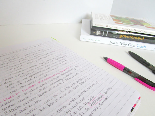 3 Ways to Study | 3 tried and true study methods to help you kick but at college from Courtney's Little Things