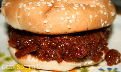 Beef for sandwiches with a delicious homemade barbecue sauce made so easy with a slow cooker. Pop it all in before you leave and come home to an easy supper.