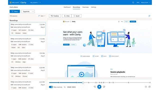 "New Launch: To compete with Google Analytics, Microsoft launches its own web analytics tool ""Clarity"""