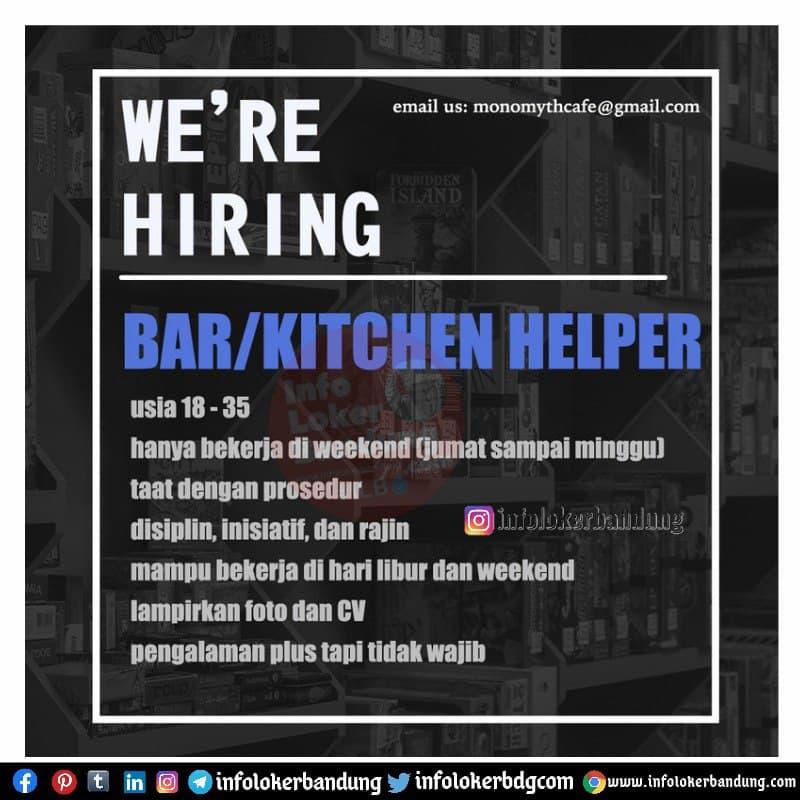 Lowongan Kerja Monomyth Cafe Bandung Maret 2021