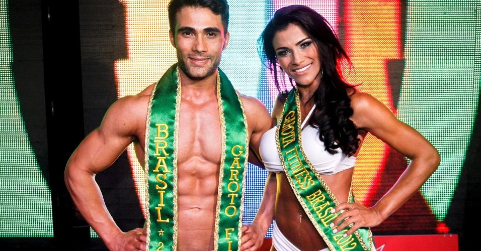 Júnior Moreno e Marissol Dias são o Garoto e Garota Fitness Brasil 2012. Leandro Moraes/UOL