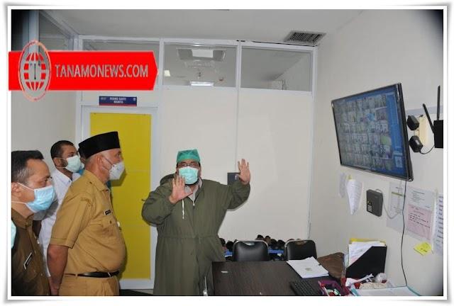 Gubernur Beri Dukungan Moril Pada Pasien COVID-19 di RSUP M.Djamil