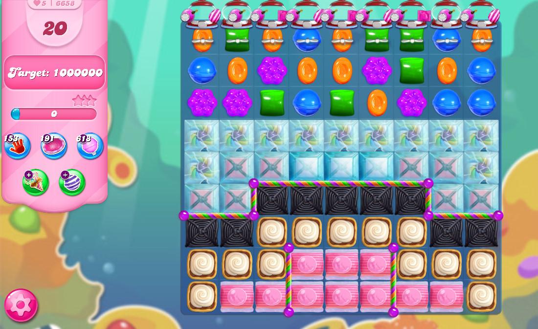 Candy Crush Saga level 6658
