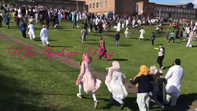 Six injured as car runs into worshippers after Eid prayer in UK + video Newcastle crash