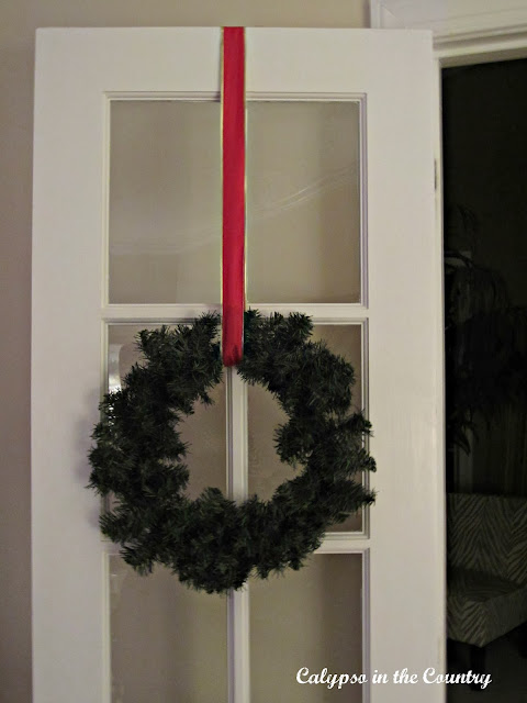 Wreath on french door