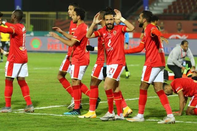 رباعي الأهلي يواصل الاستشفاء قبل مباراة الجونة بالدوري المصري