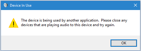 "Mengatasi Speaker Laptop Mati ""the Device Is Being Used by Another Application"""