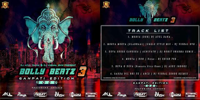 BOLLY BEATZ VOL.03  (GANPATI EDITION) – DJ ATUL & DJ VISHAL BVN