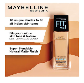 Maybelline New York fit me foundation.