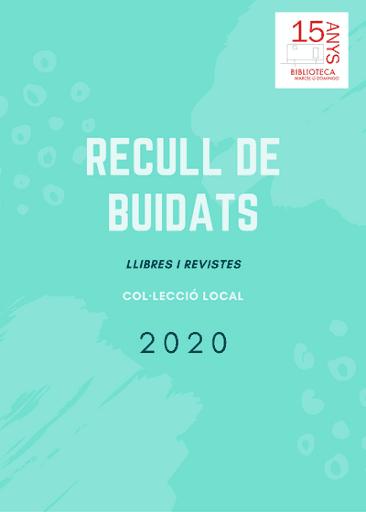 Actualització buidats 2020