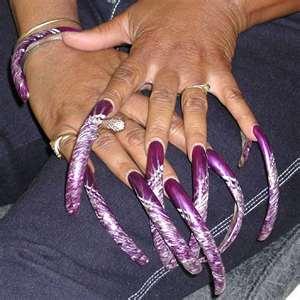 acrylic nails long nails