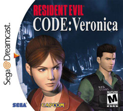 Resident Evil: Code Veronica Sega Dreamcast horror game Cover Art