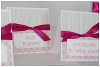 wesele z dziećki candy bar urodzinowy śłubny różowy