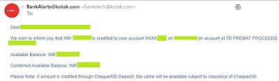 Kotak Mahindra Bank - Close RD Account
