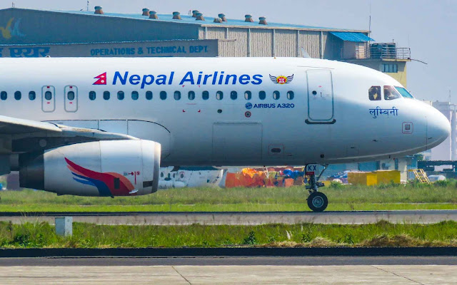 Airbus A320 Nepal Airlines named Lumbini