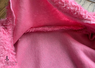 Kawartha Cardi jacket inside pic of neckline seam
