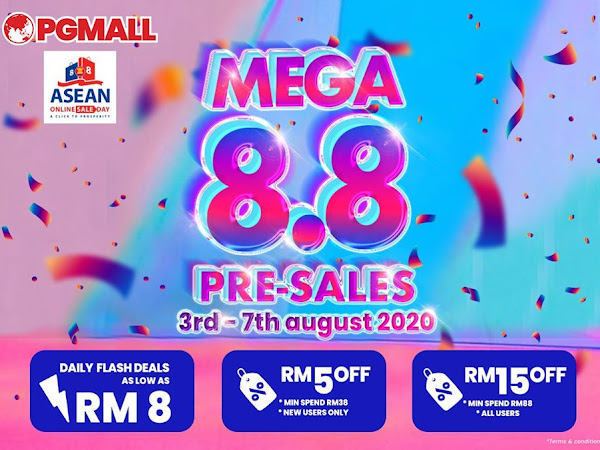 Amazing Discount and MEGA 8.8 Sales at PG MALL From 3rd August - 8th August 2020!