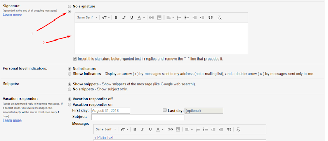 Add Signature in Gmail with Logo, Add Signature in Gmail