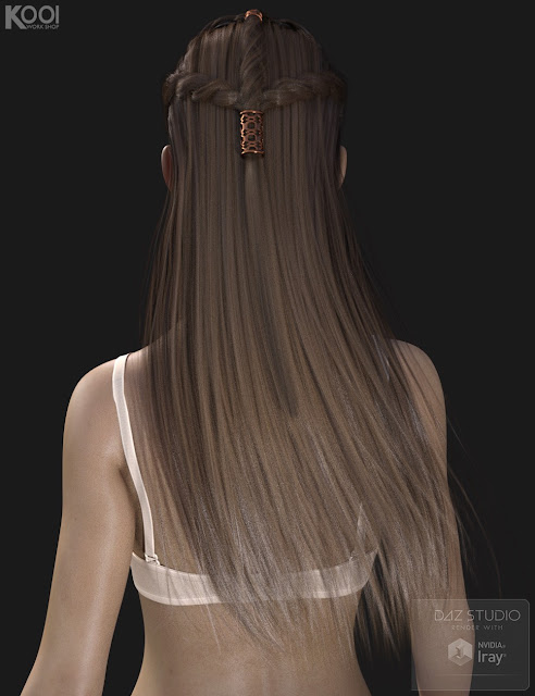 Astrid Hair for Genesis 3 Female
