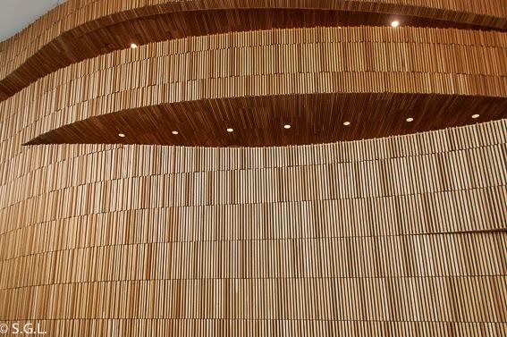 Muro ola del interior de la opera de Oslo