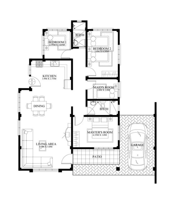 40 SMALL HOUSE IMAGES DESIGNS WITH FREE FLOOR PLANS LAYOUT AND – Small House Design With Floor Plan
