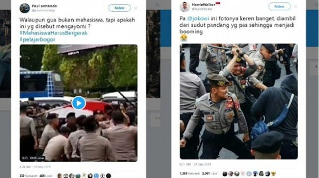 Demo di Bogor, Viral Video Polisi Pukuli Pengunjuk Rasa