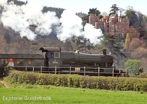 West somerset railway dunster express steam train