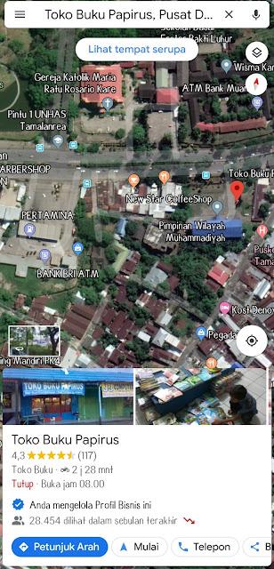 Map toko buku papirus