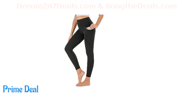 30%OFF High Waist Yoga Pants for Women with Pockets, Non See-Through Workout