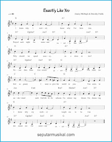 chord exactly like you lagu jazz standar