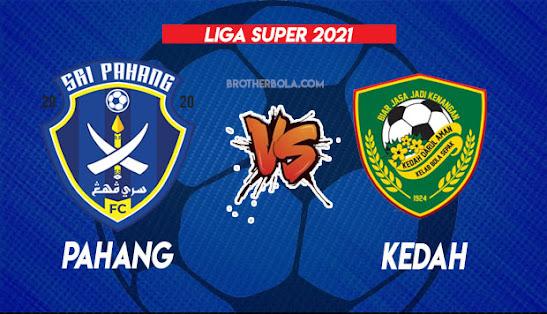 Live Streaming Pahang vs Kedah 1.9.2021