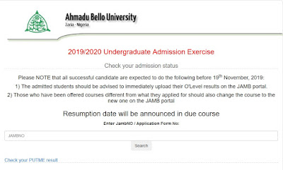 ABU Zaria Admission List 2019/2020 [1st & 2nd Batch]