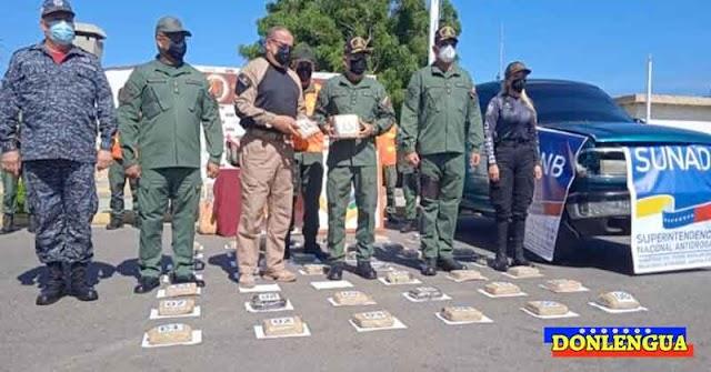 La suegra y el yerno se asociaron para transportar 42 panelas de marihuana en Falcón