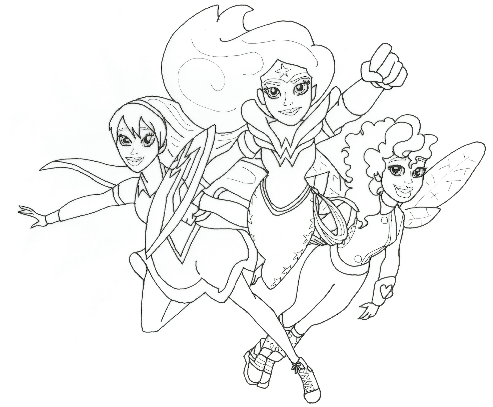 dc super hero girls free printable coloring page - Superhero Coloring Books