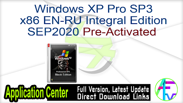 Windows XP Pro SP3 x86 EN-RU Integral Edition SEP2020 Pre-Activated