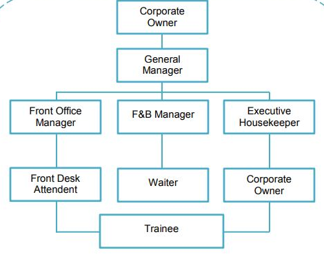 large, medium, and small hotel organizational structure