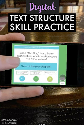 Give your middle school students practice with USING text structures to analyze text with this digital game!