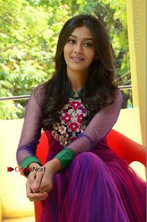 Actress Pooja Jhaveri Latest Stills in Purple Salwar Kameezt at Dwaraka Success Meet  0204.JPG