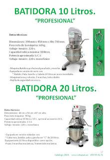 Batidoras profesionales 20L y 10L