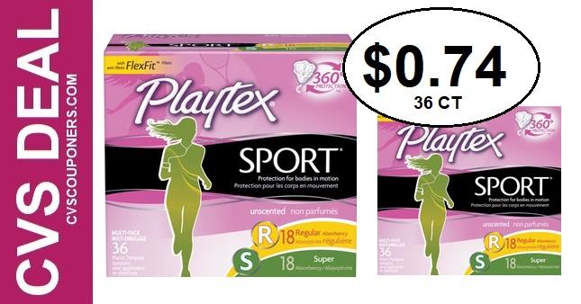 Playtex Tampons CVS Deal $0.74 1-12-1-18
