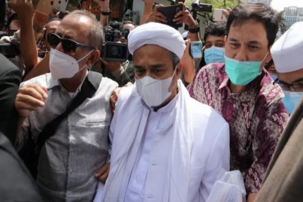 Habib Rizieq Shihab Dia diperiksa di Rutan Narkoba Polda Metro Jaya