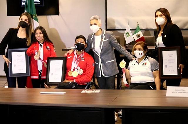 Reconoce PVEM a atletas paralímpicos por su desempeño en Tokio 2020