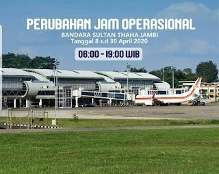 PT Angkasa Pura II Kurangi Jam Operasional Bandara Termasuk Sultan Thaha Jambi