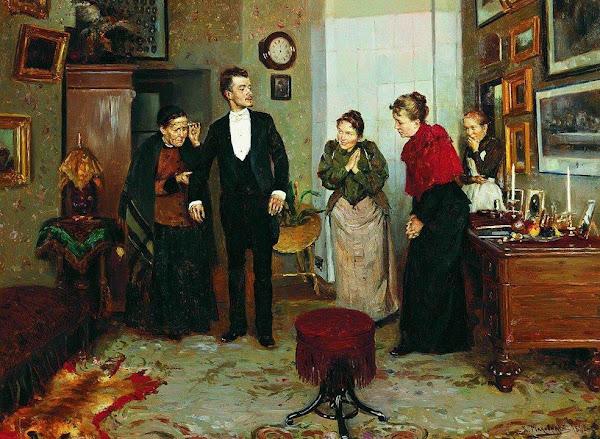 Маковский Владимир Егорович - Первый фрак. 1892