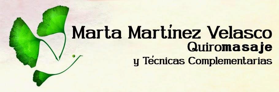 Marta Martínez Velasco - Quiromasaje y Técnicas Complementarias