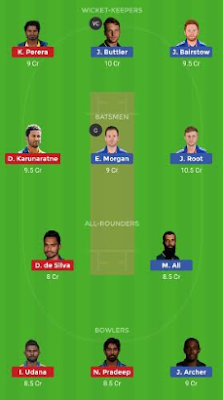 ENG vs SL dream 11 team | SL vs ENG
