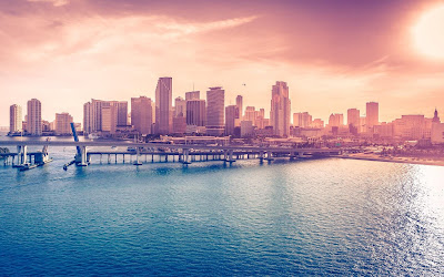 miami downtown widescreen hd wallpaper