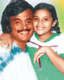 Rajinikanth with daughter